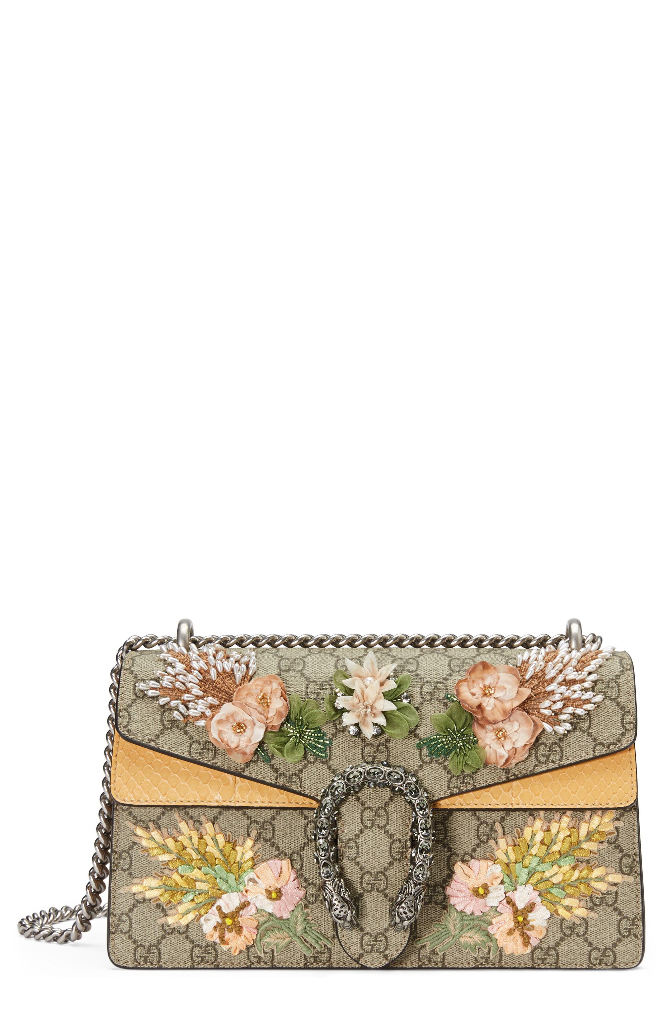 d0d5a34401a Gucci. Women s Natural Small Dionysus Embellished Gg Supreme   Genuine Python  Shoulder Bag