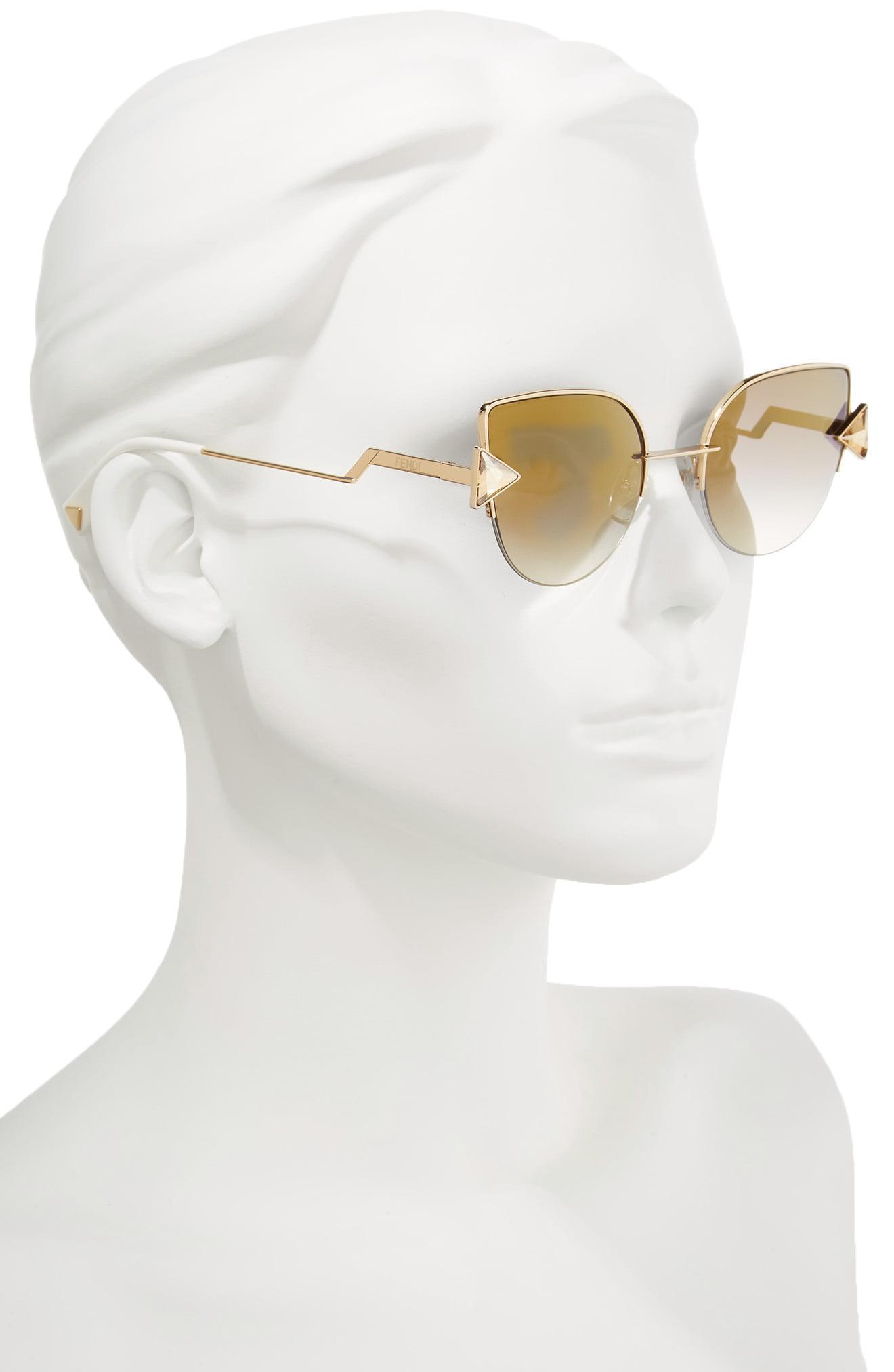 4212e1691c67 Fendi - Metallic Rainbow 52mm Semi-rimless Sunglasses - Lyst. View  fullscreen