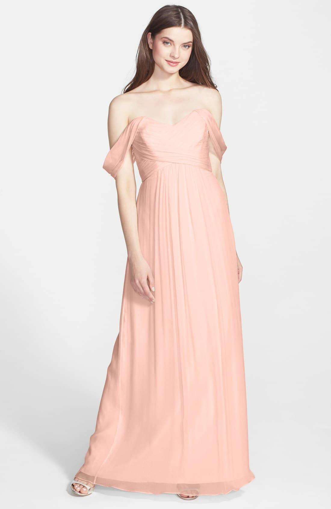 23a880b18e45 Amsale Convertible Crinkled Silk Chiffon Gown in Pink - Save 62% - Lyst