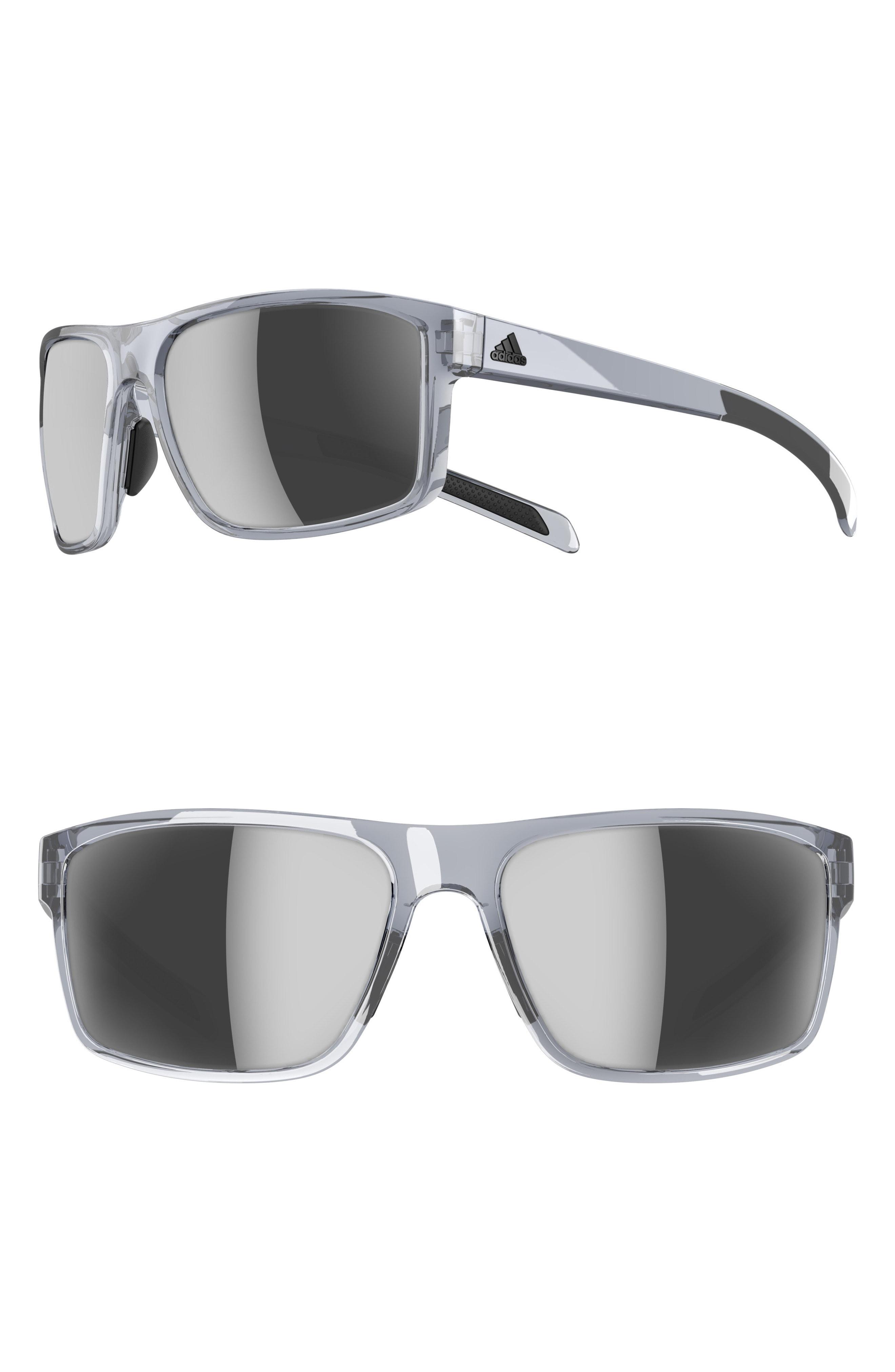 cf1dce268651 Lyst - adidas Whipstart 61mm Mirrored Sunglasses - Shiny Grey ...