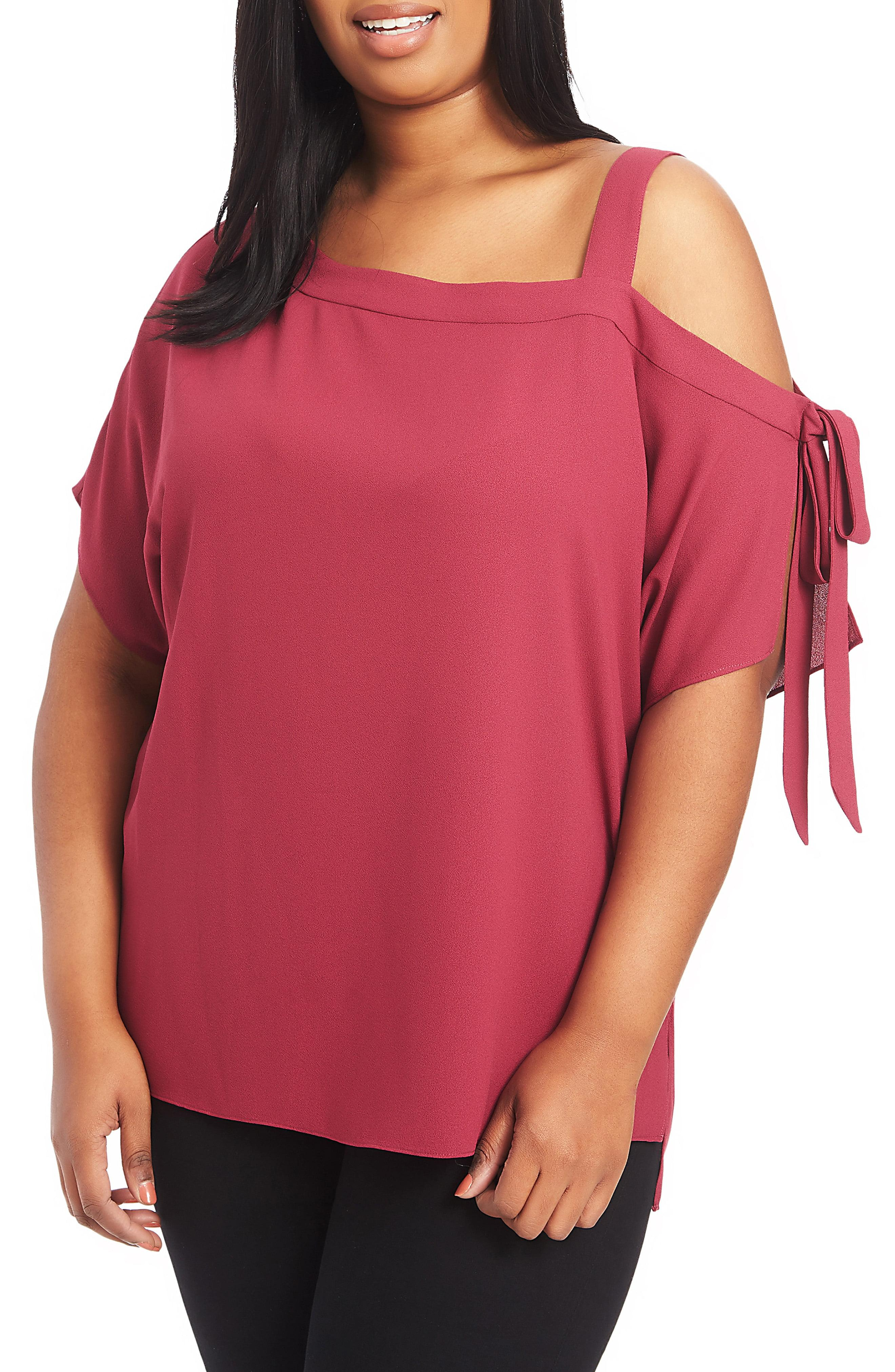 affbcbbf69e94 Lyst - 1.STATE One-shoulder Tie Sleeve Blouse in Pink