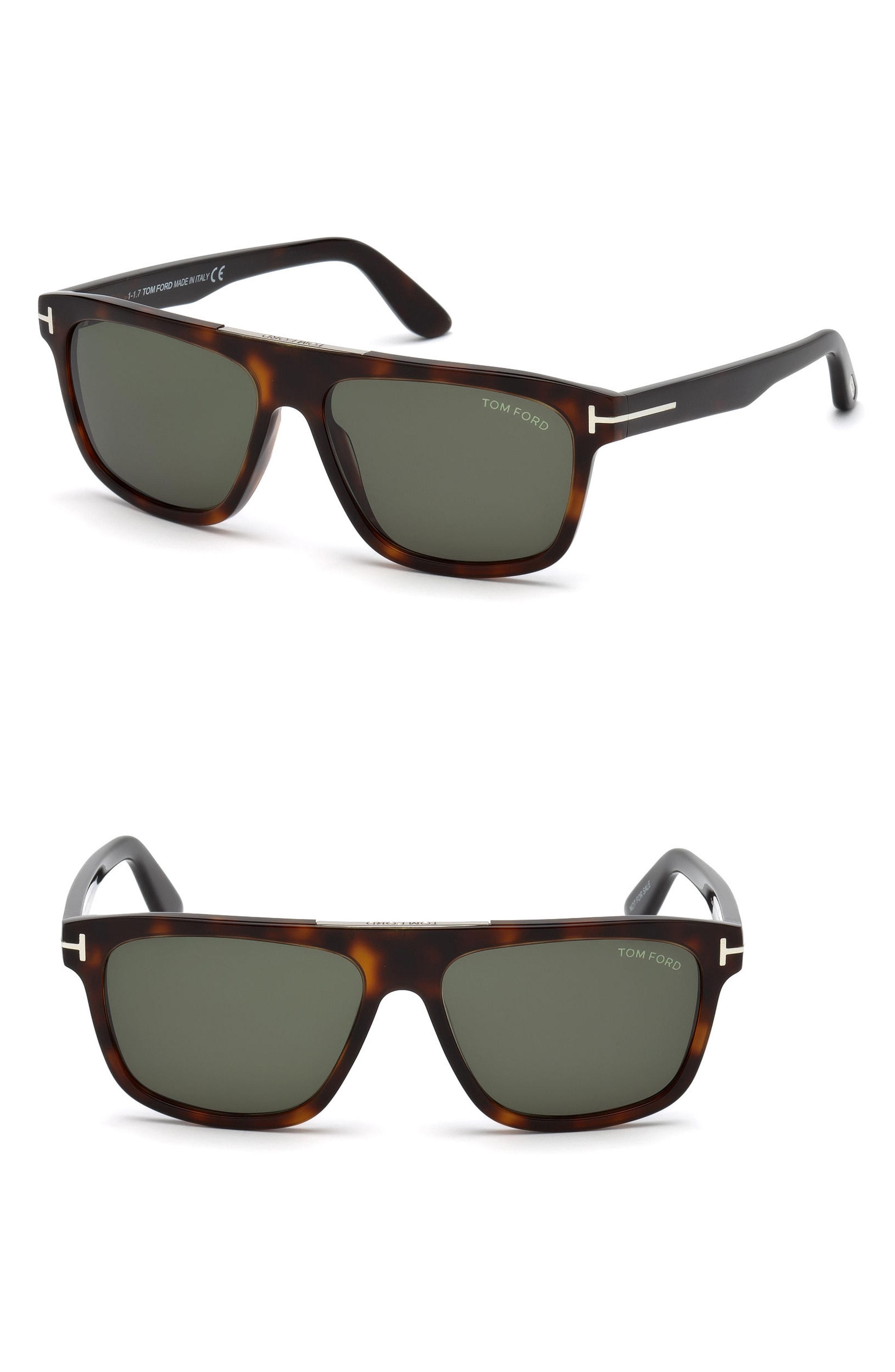 c4187984d2270 Tom Ford - Cecilio 57mm Sunglasses - Dark Havana   Green for Men - Lyst.  View fullscreen