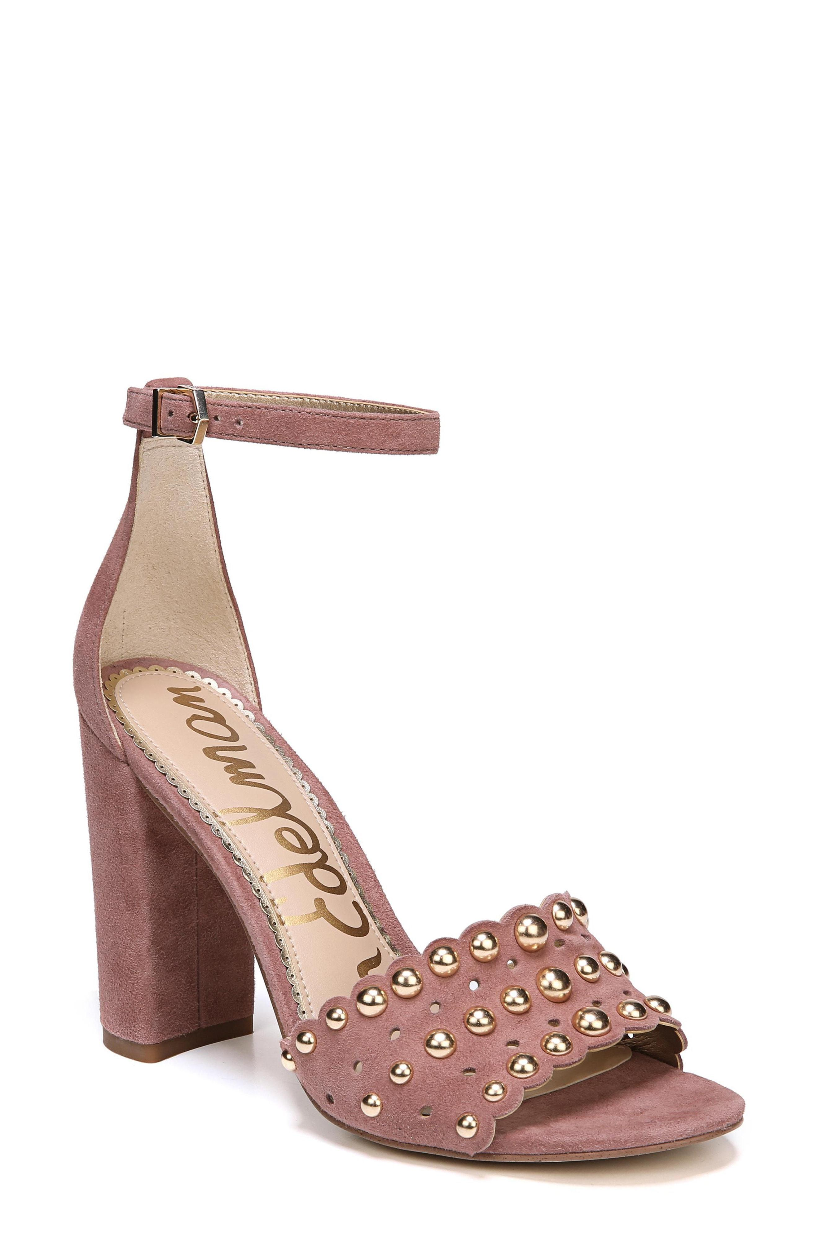 860af92f911 Lyst - Sam Edelman Yaria Studded Block Heel Sandal in Metallic