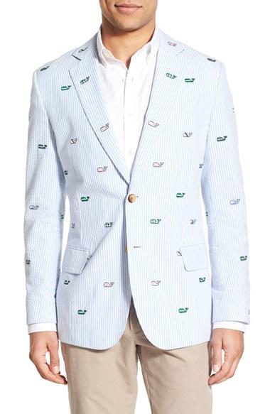Lyst Vineyard Vines Embroidered Seersucker Sport Coat In