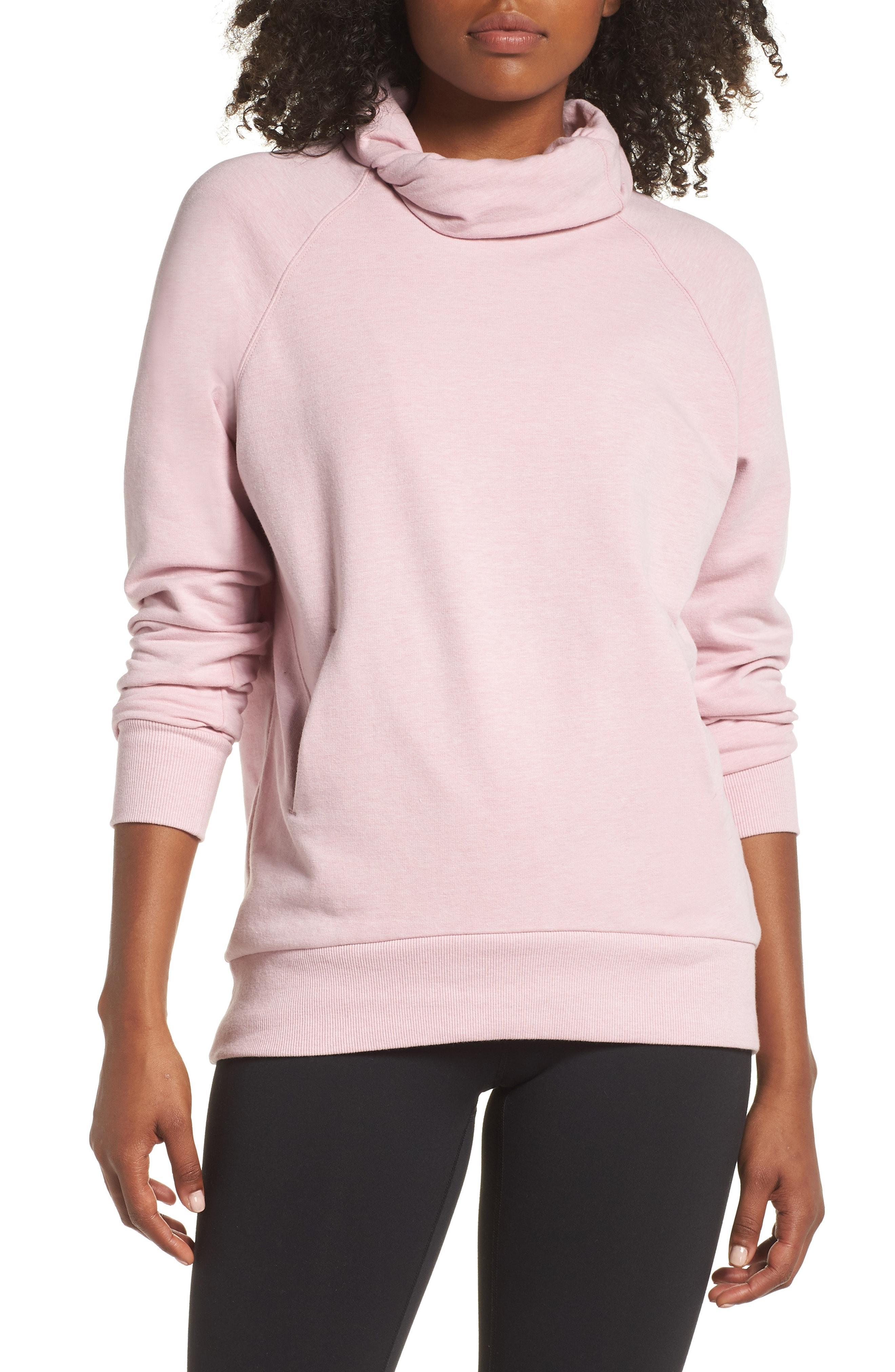 08d3d044780 Lyst - Zella Erica Twist Cowl Neck Pullover in Pink
