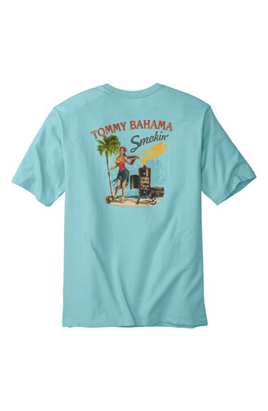 Tommy Bahama 39 Smokin 39 Graphic T Shirt In Blue For Men Lyst
