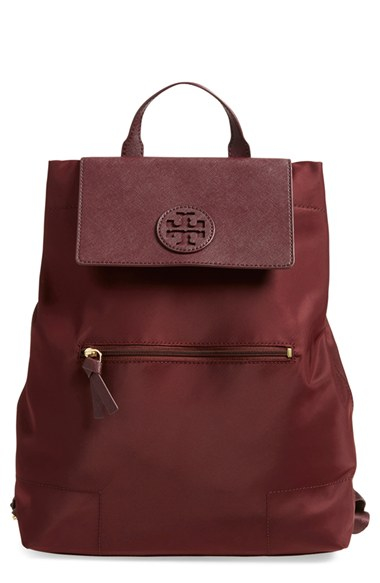 3a98b63cb7b4f Lyst - Tory Burch  ella  Packable Nylon Backpack - Burgundy in Red