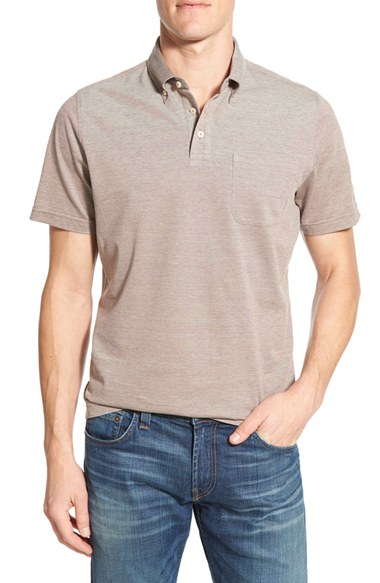 Maker Company Cotton Knit Polo In Gray For Men Lyst