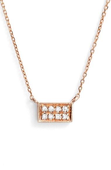 Dana Rebecca Katie Diamond Bar Pendant Necklace In