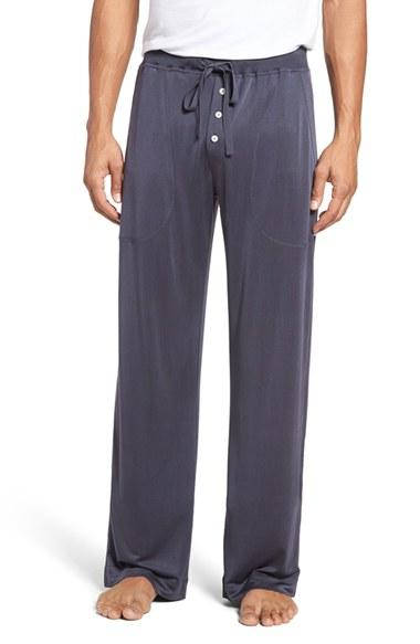 Daniel Buchler Luxe Silk Lounge Pants In Gray For Men Lyst