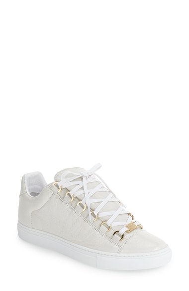 balenciaga low top sneaker in white blue lyst. Black Bedroom Furniture Sets. Home Design Ideas