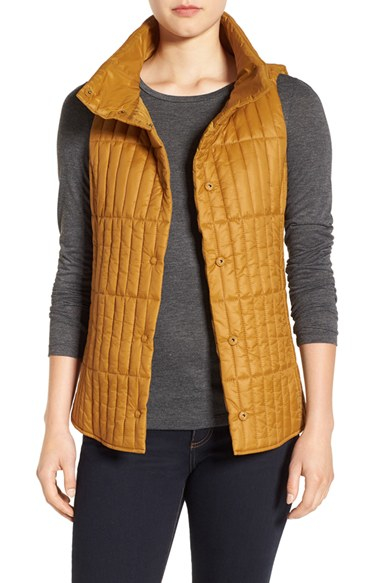 Eileen Fisher Quilted Stand Collar Vest Save 20 Lyst