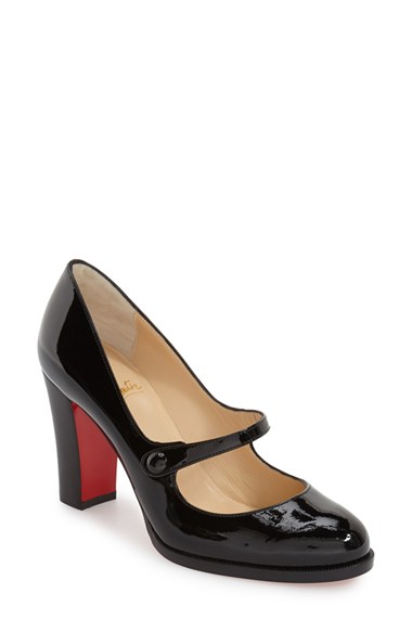 christian louboutin patent mary jane pumps