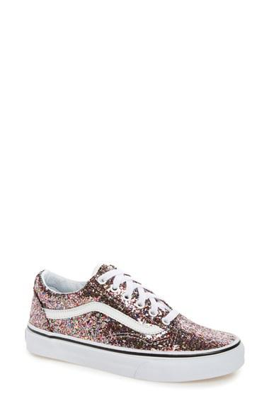 d073ba960b Lyst - Vans Old Skool Glitter Sneaker in White