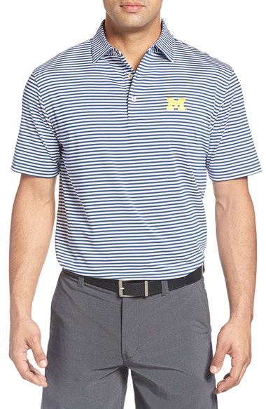 Peter millar 39 competition university of michigan 39 stripe for Peter millar golf shirts