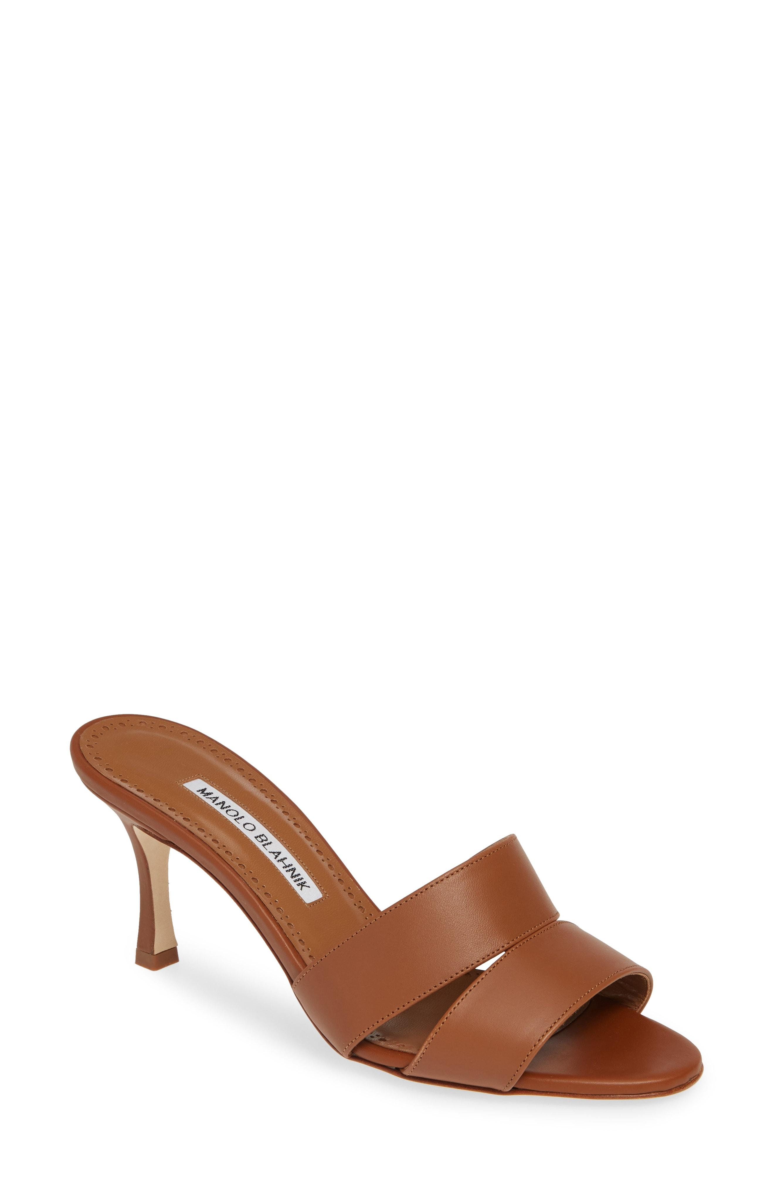 adc54b24cda6 Lyst - Manolo Blahnik Iacopo Double Band Sandal in Brown