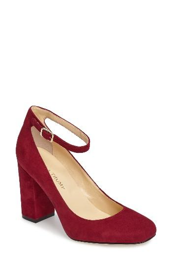 e071fd44084d Lyst - Ivanka Trump Oasia Ankle-Strap Suede Pumps in Pink