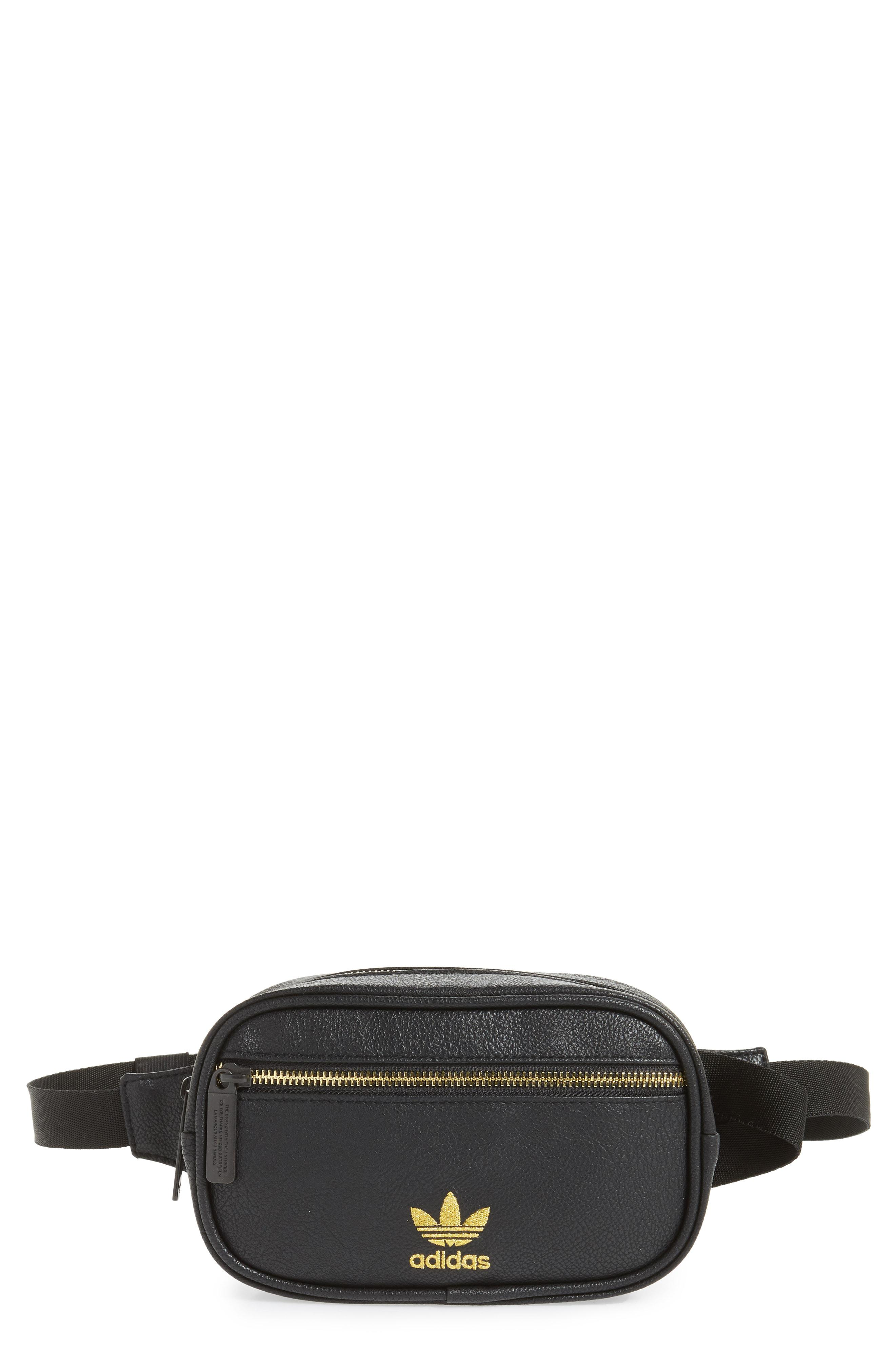 5121e68823f9 Lyst - adidas Originals Adidas Ori Faux Leather Fanny Pack in Black