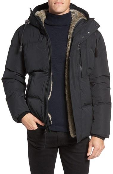 Lyst Andrew Marc Ascent Down Parka With Removable Faux