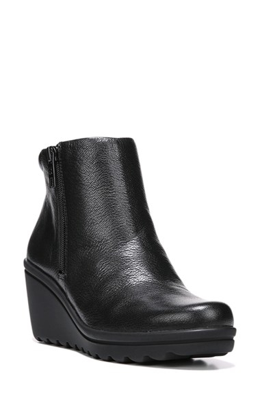 42b73f77096 Lyst - Naturalizer  quineta  Wedge Bootie in Black