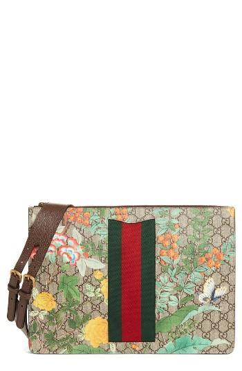 4db0e2e8c23 Lyst - Gucci Tian Leather Trim Messenger Bag for Men