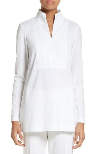 Lafayette 148 new york Marco Jersey Sleeve Tunic in White ...