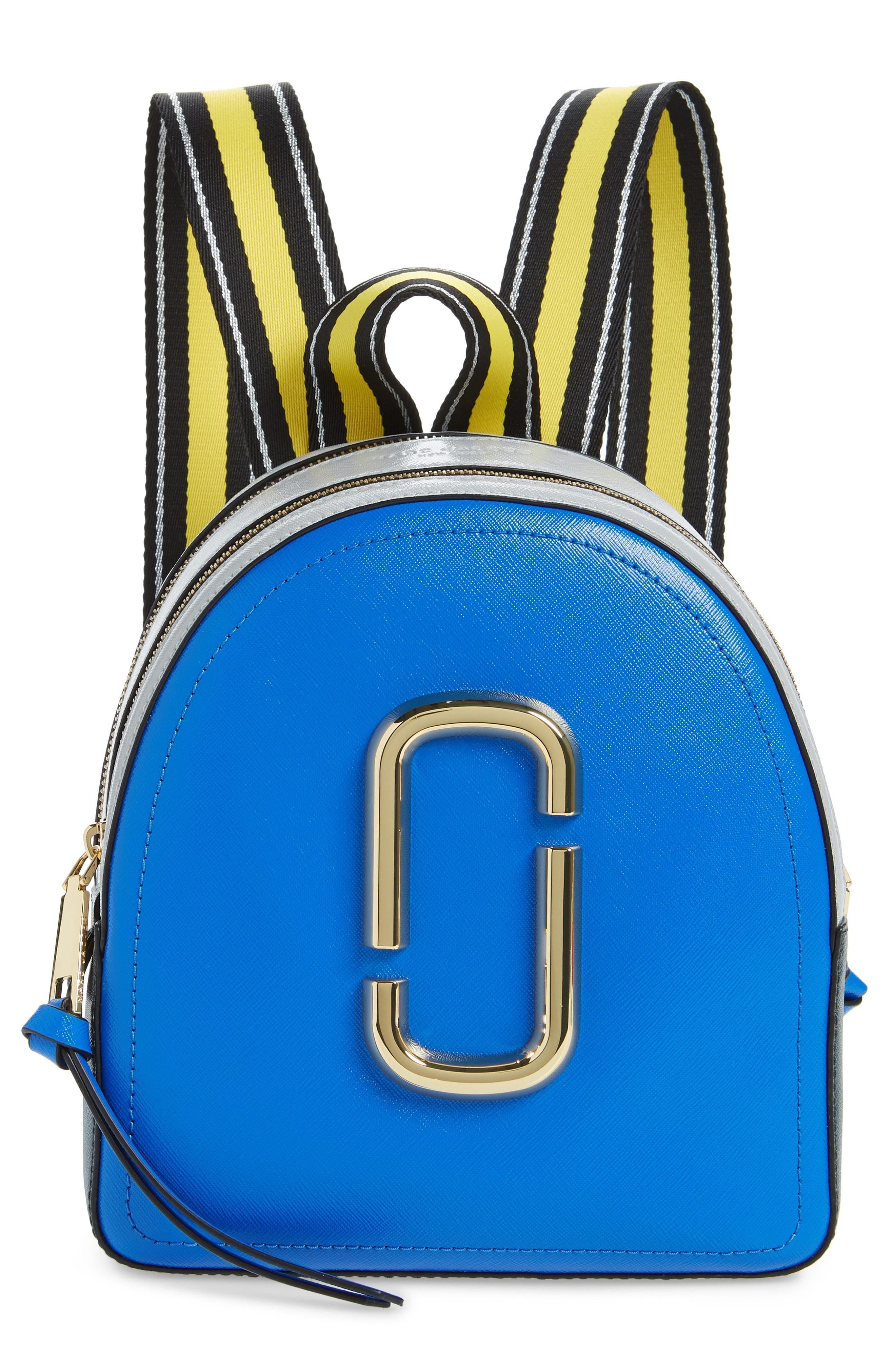 8440aba28acb Lyst - Marc Jacobs Pack Shot Leather Backpack in Blue