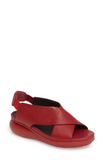 Camper Balloon Slingback Wedge Sandal In Red Lyst