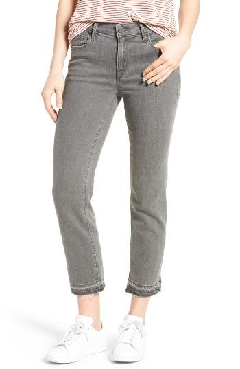 Parker smith Frayed Release Hem Crop Straight Leg Jeans in ...