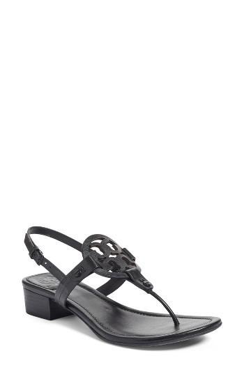 86394420f483be Lyst - Tory Burch Miller Block-heel Sandals in Black