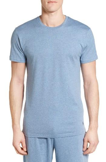 Polo ralph lauren crewneck cotton modal t shirt in blue for Modal t shirts mens