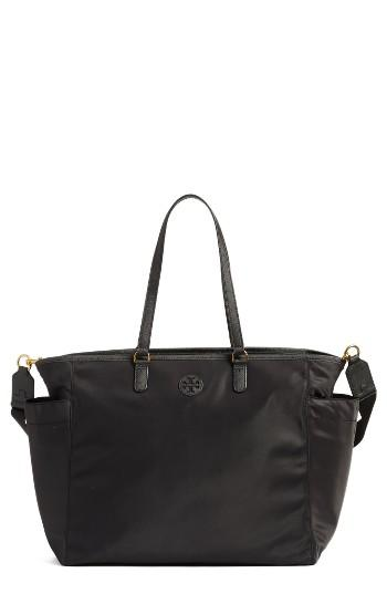 tory burch scout nylon diaper tote in black lyst. Black Bedroom Furniture Sets. Home Design Ideas