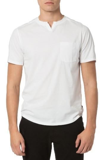 Good man brand notch neck t shirt in white for men lyst for Successful t shirt brands