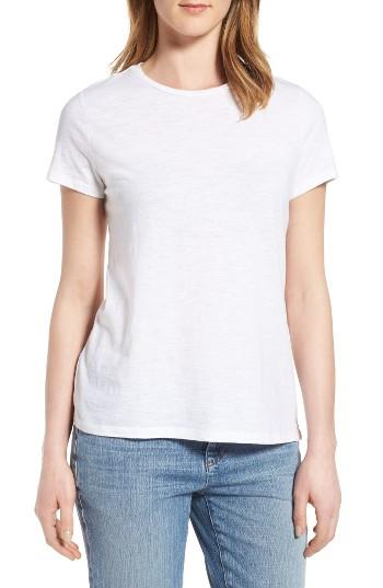 Lyst eileen fisher organic cotton tee in white for Eileen fisher organic cotton t shirt