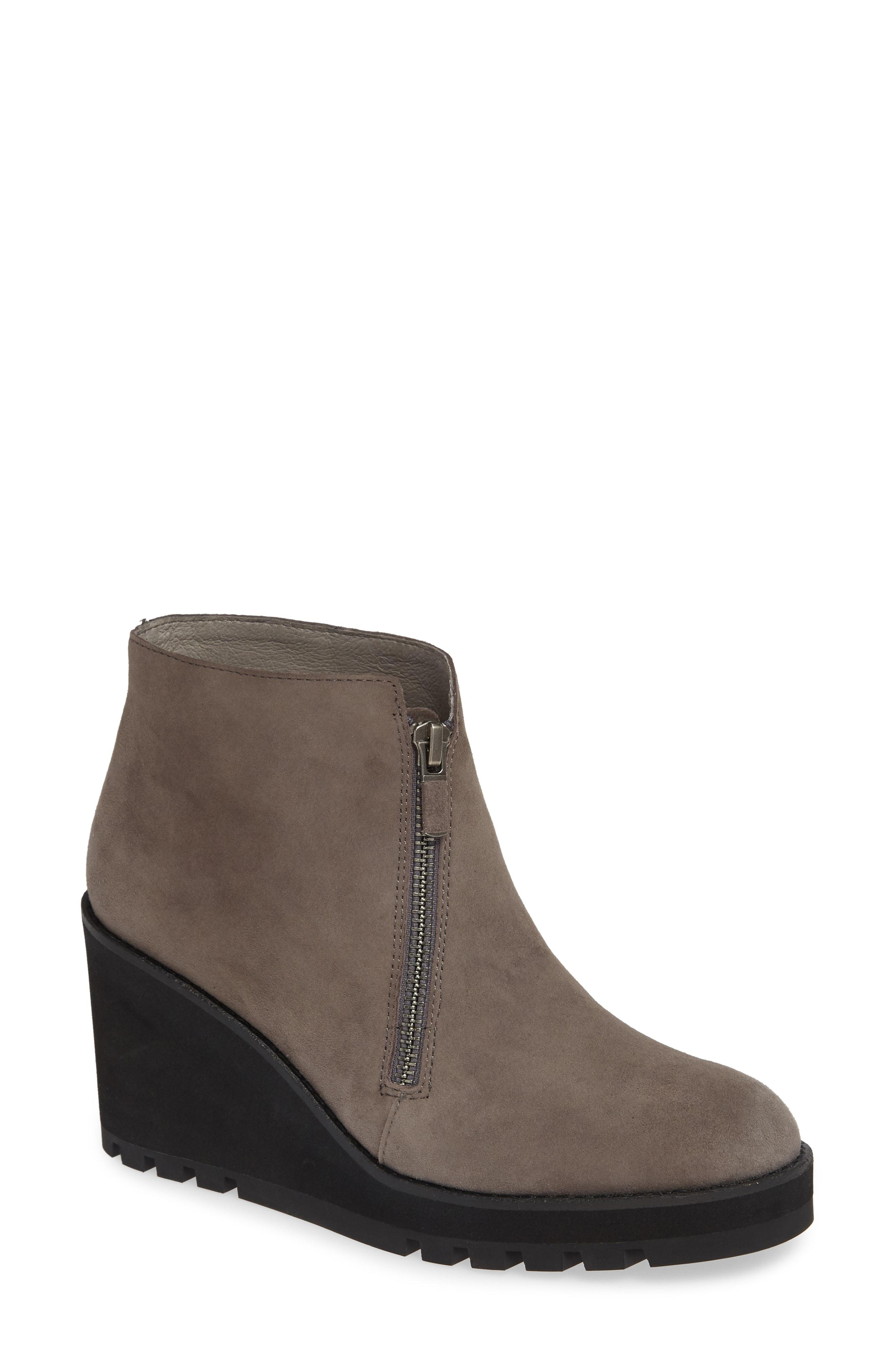 7100c5e3422 Lyst - Eileen Fisher Alto Wedge Bootie in Gray