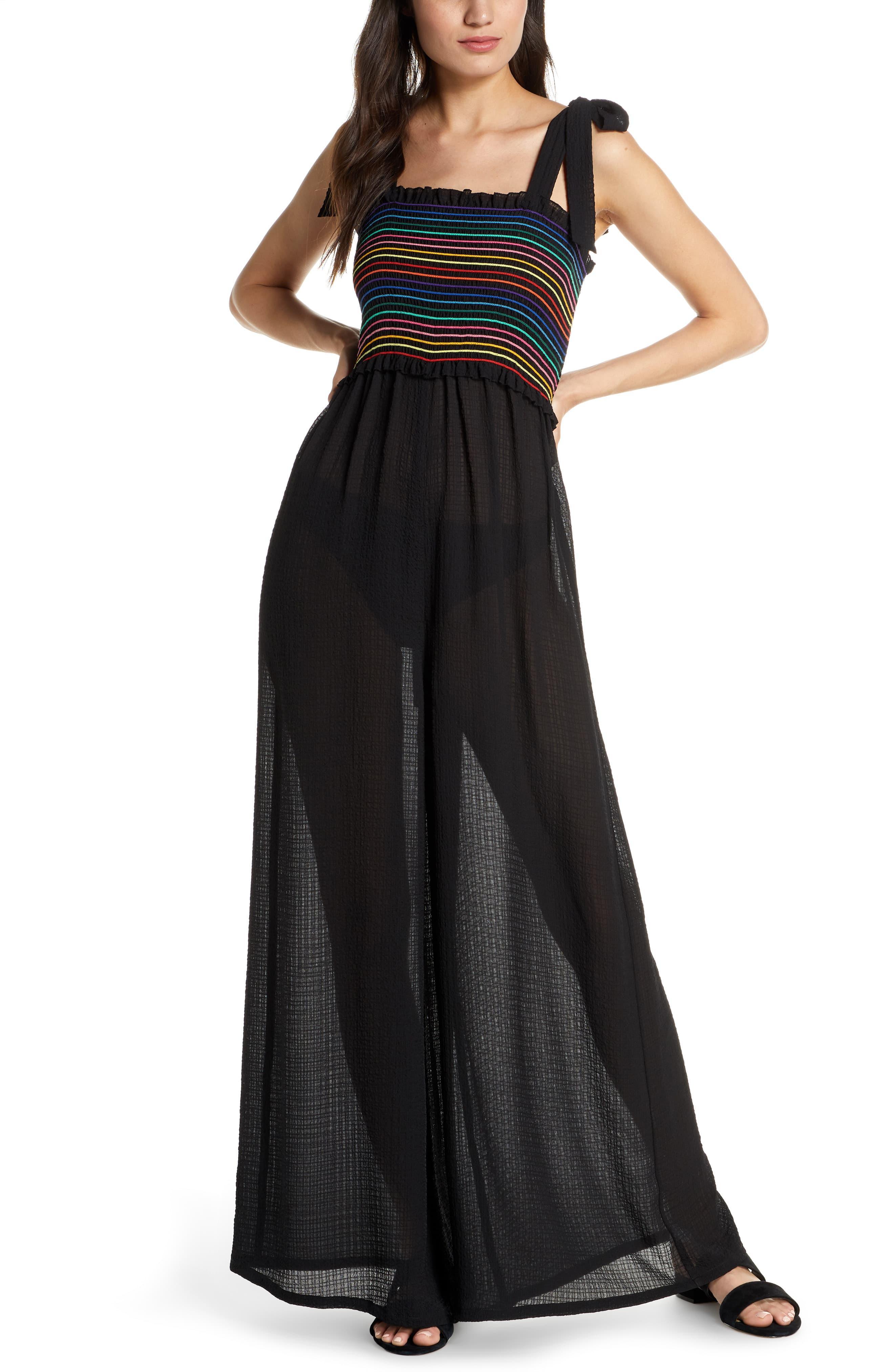 5403cc03b7b4 Chelsea28 - Black Dana Smocked Cover-up Jumpsuit - Lyst. View fullscreen