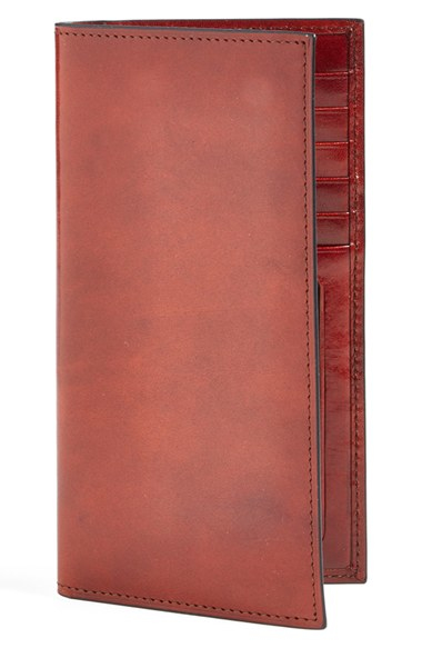 Lyst Bosca Old Leather Checkbook Wallet In Brown For Men