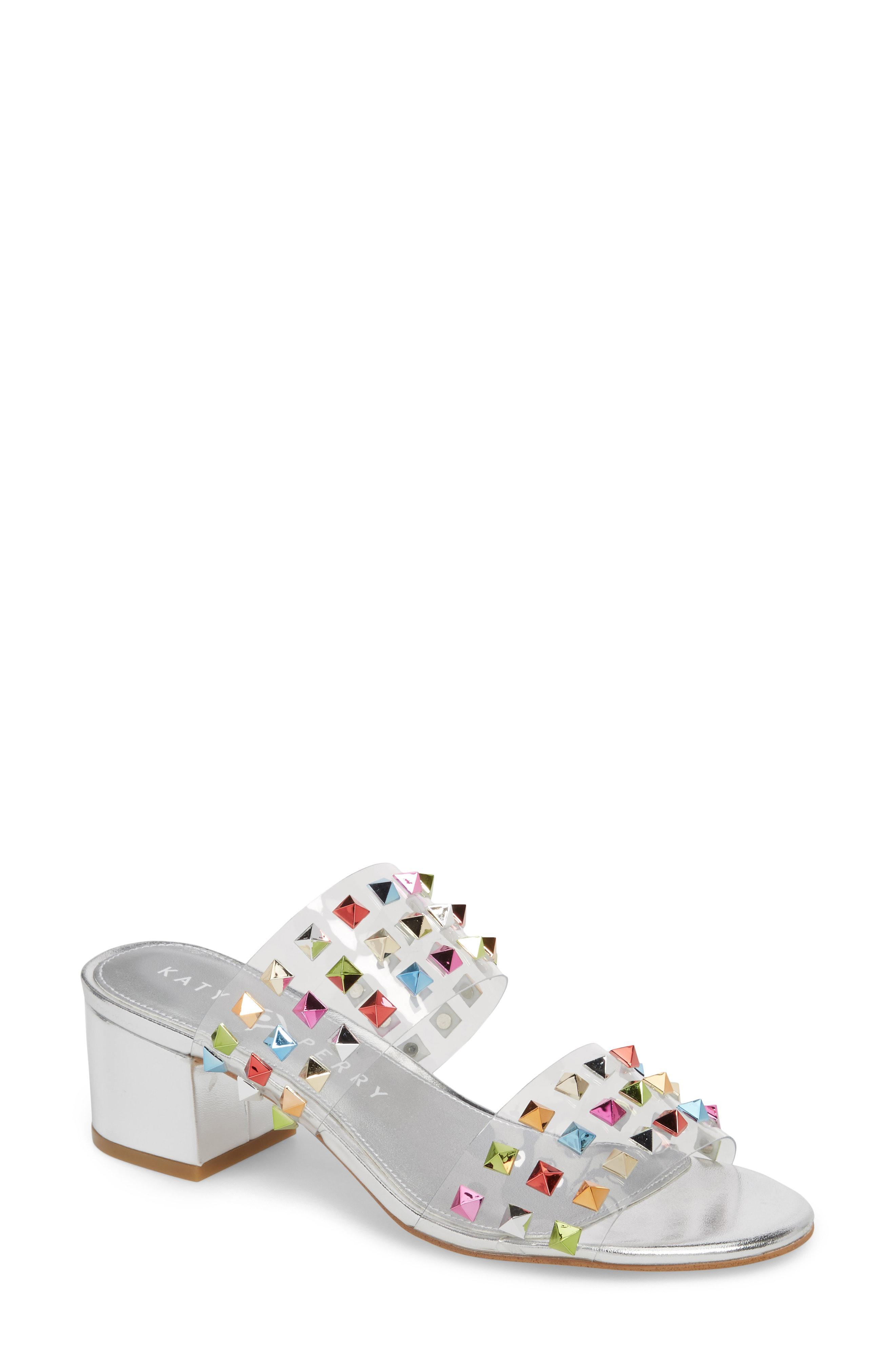 a75ad5b4349 Lyst - Katy Perry The Kenzie Studded Sandal in White