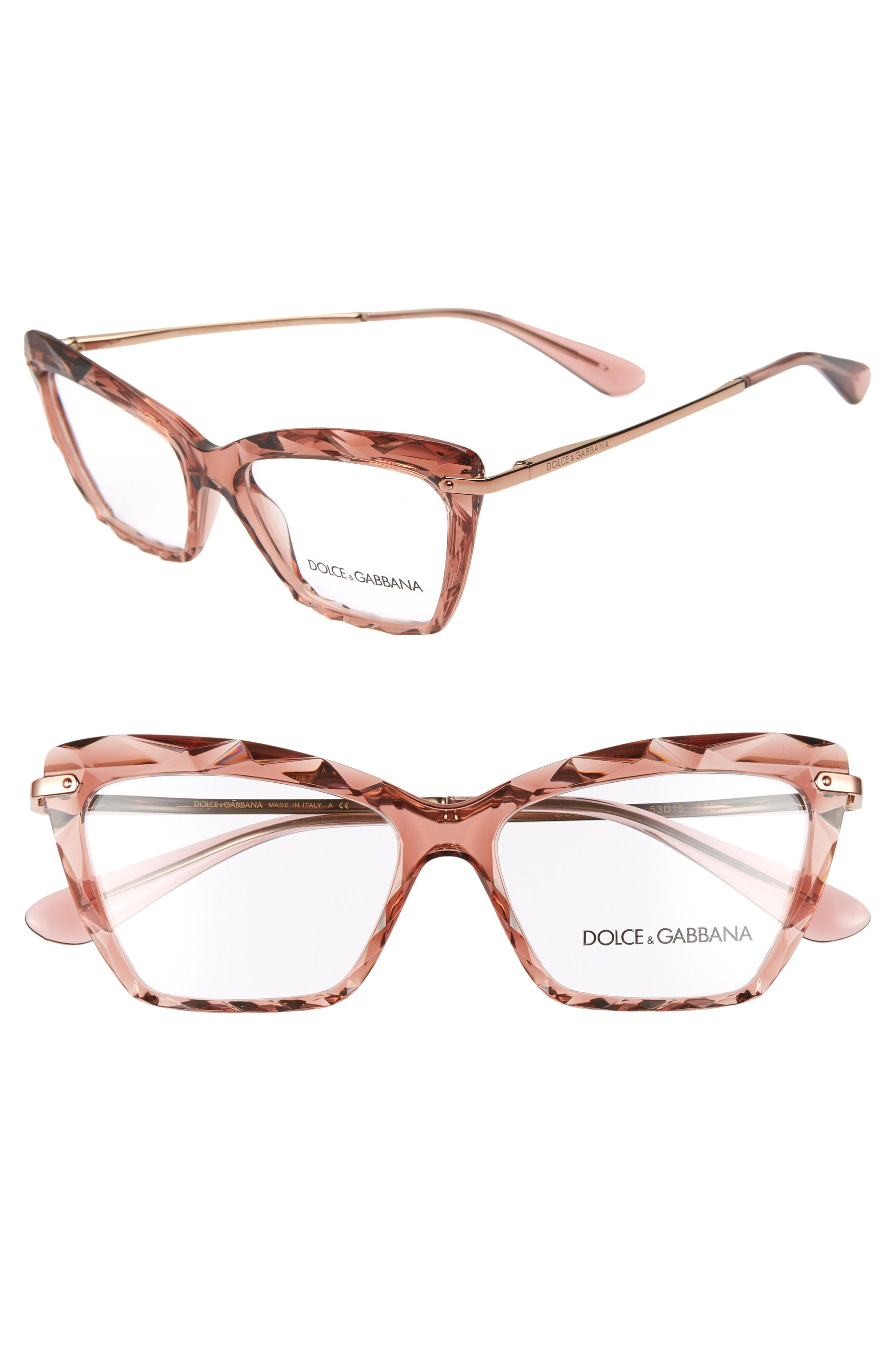 e4895c0d6e ... Cat Eye Optical Glasses - Transparent Pink - Lyst. View fullscreen