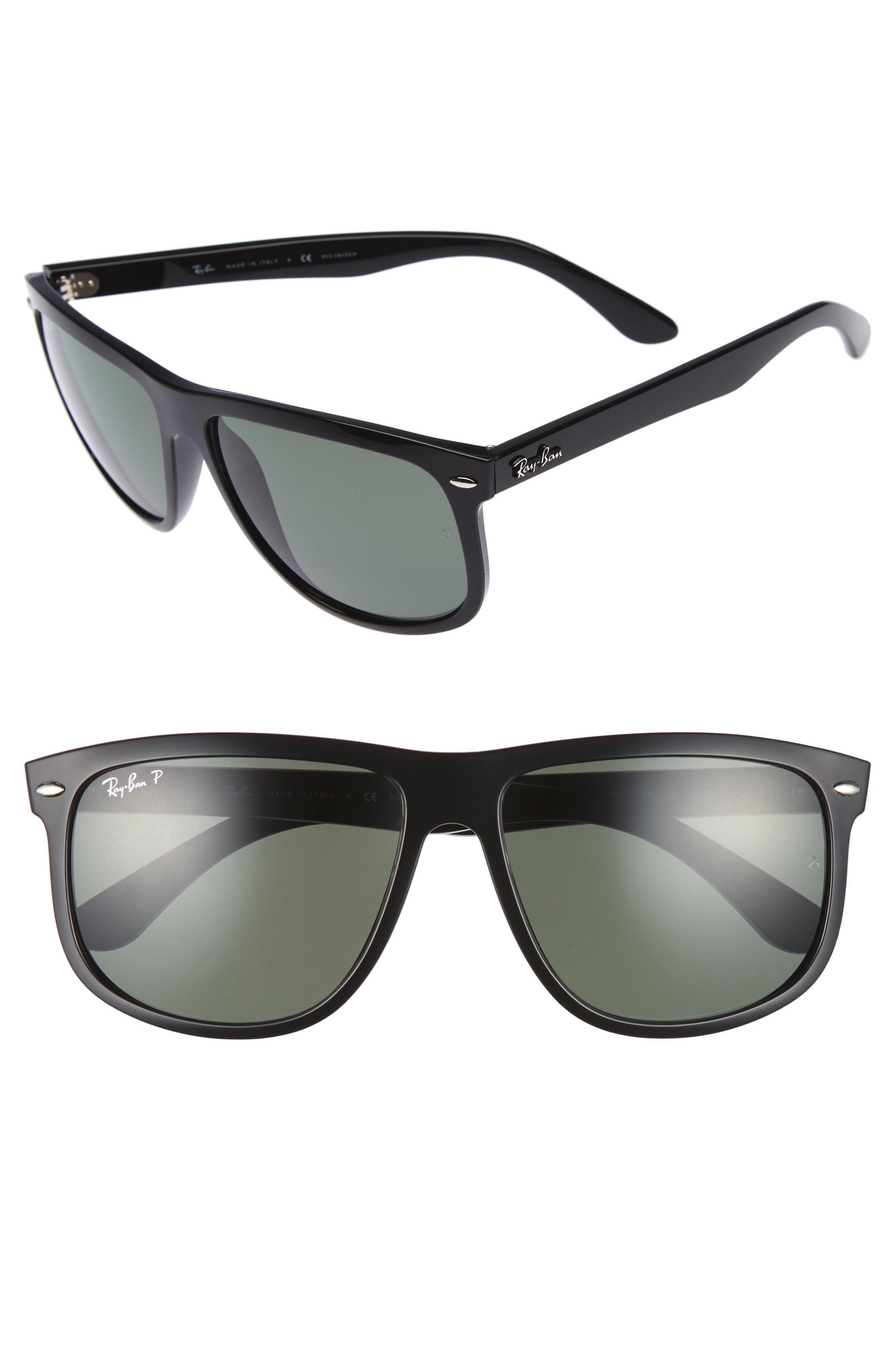 20857fccd6 Lyst - Ray-Ban  boyfriend  60mm Polarized Sunglasses - Light Havana ...