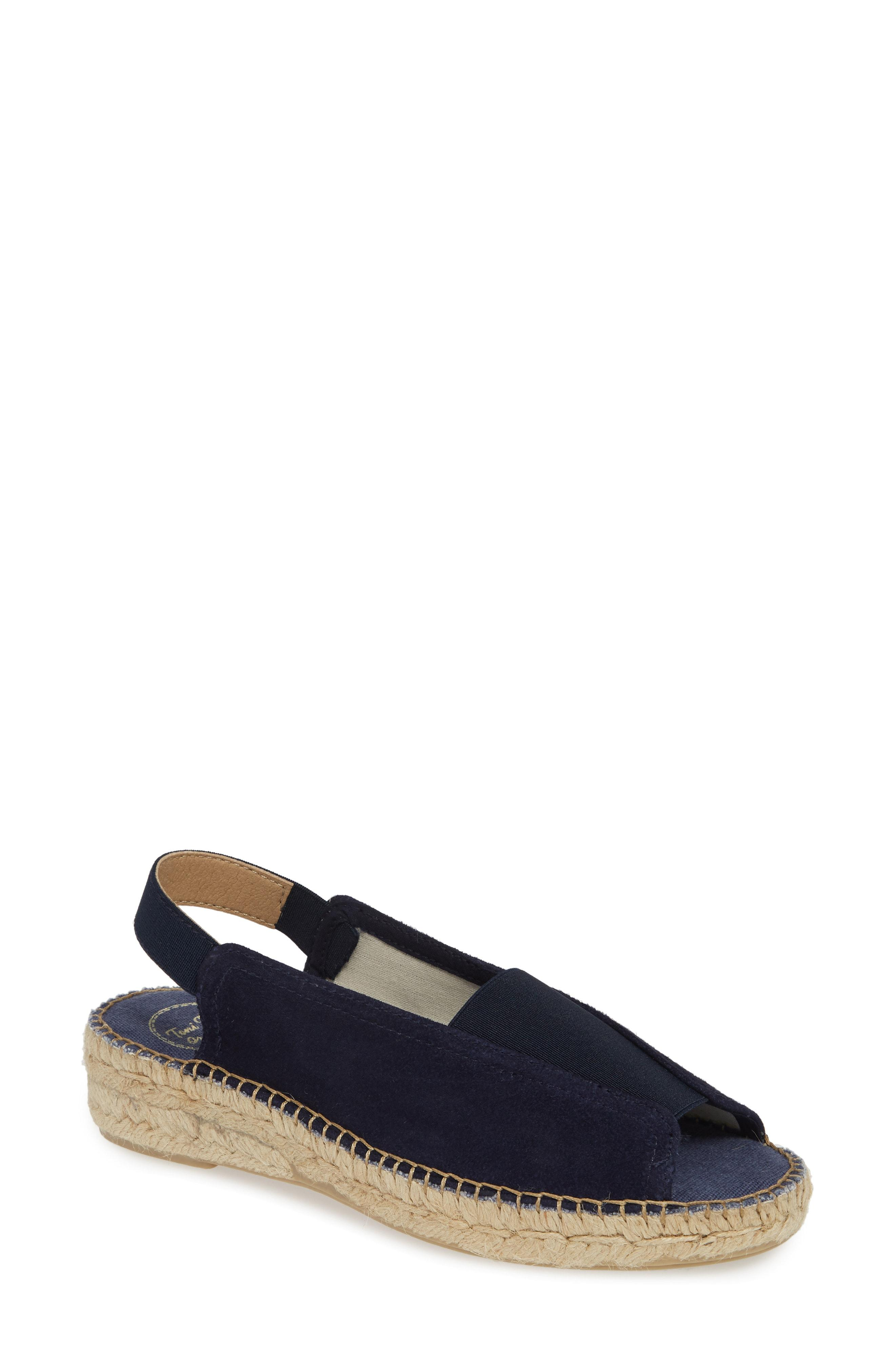 eb46ab96c05 Lyst - Toni Pons Esmy Slingback Wedge Sandal in Blue