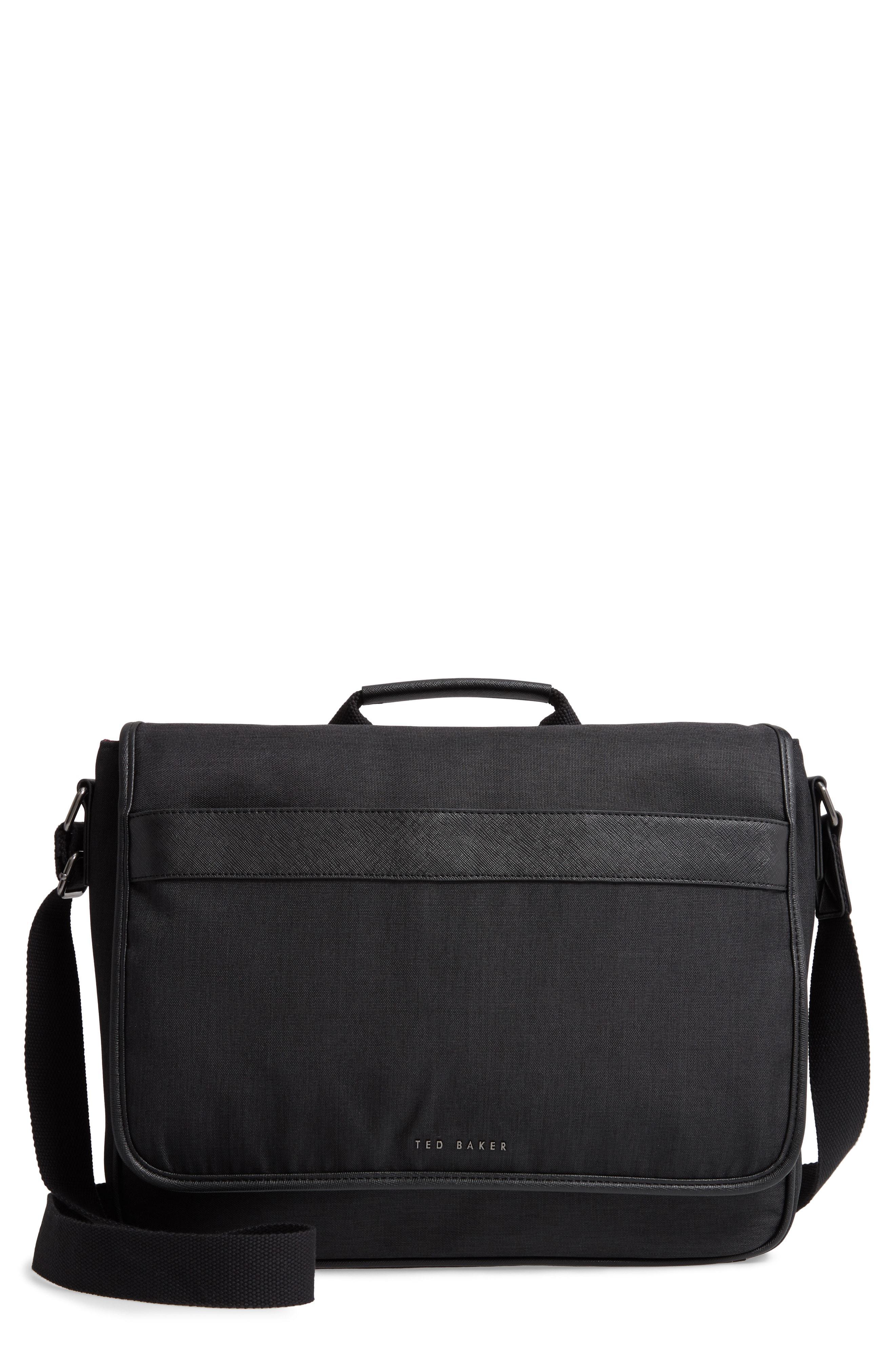 Lyst - Ted Baker Edds Messenger Bag - in Black for Men 9ee4f170ffa89