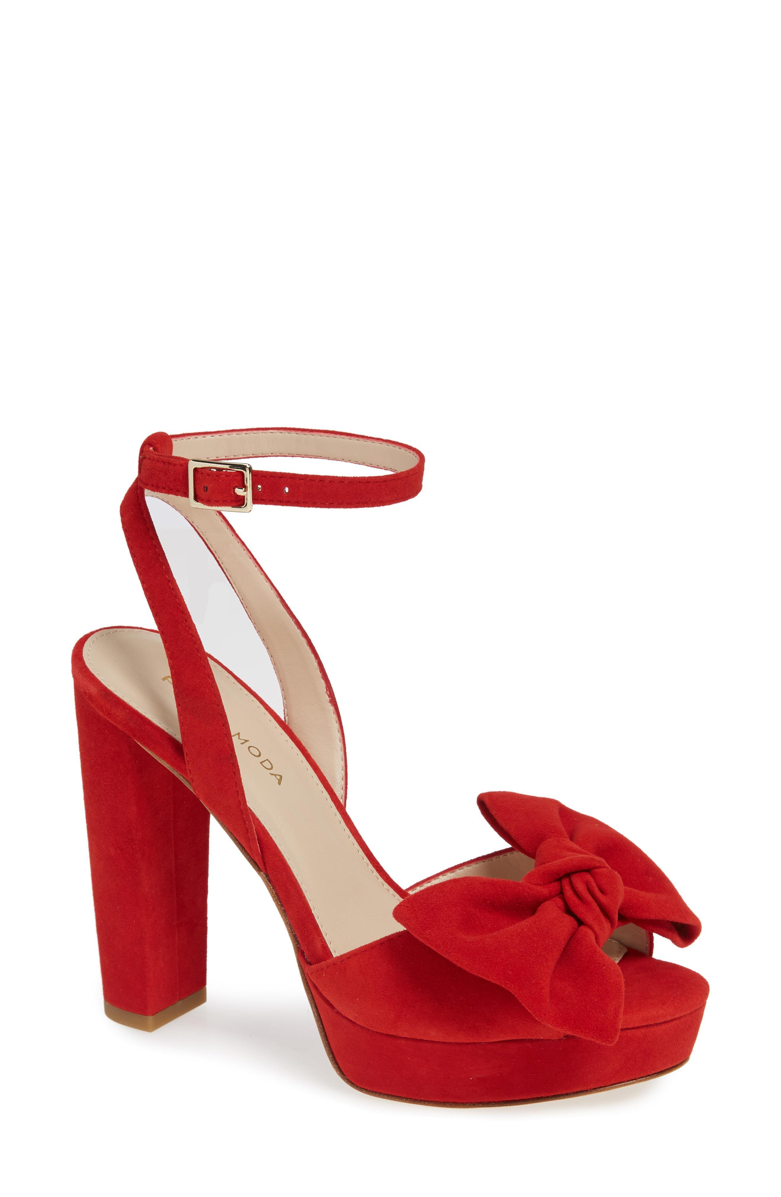 261b7d0b7a17 Lyst - Pelle Moda Platform Sandal in Red