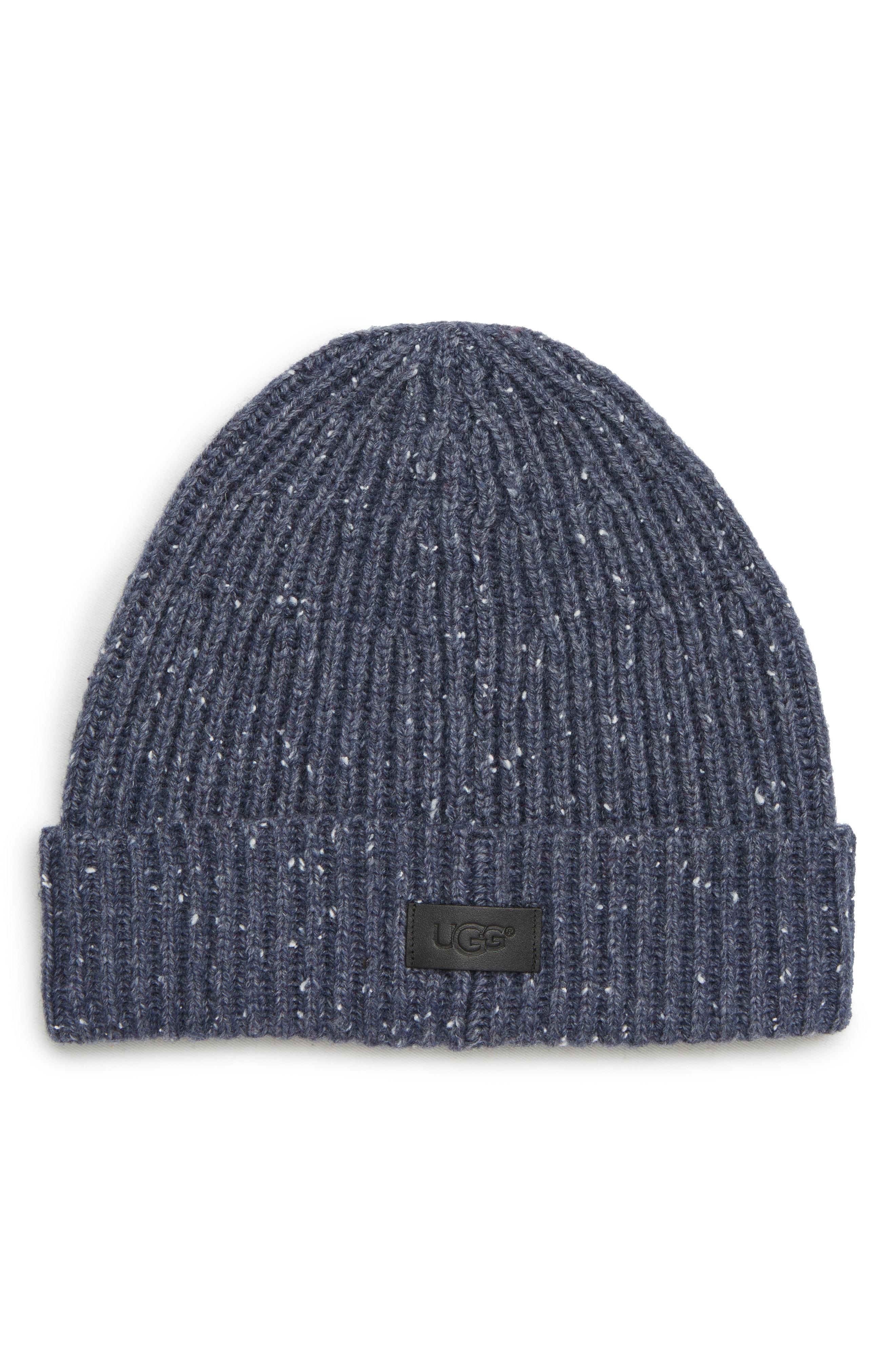 14180b6829812 Lyst - UGG Ugg Cuffed Knit Beanie in Blue for Men