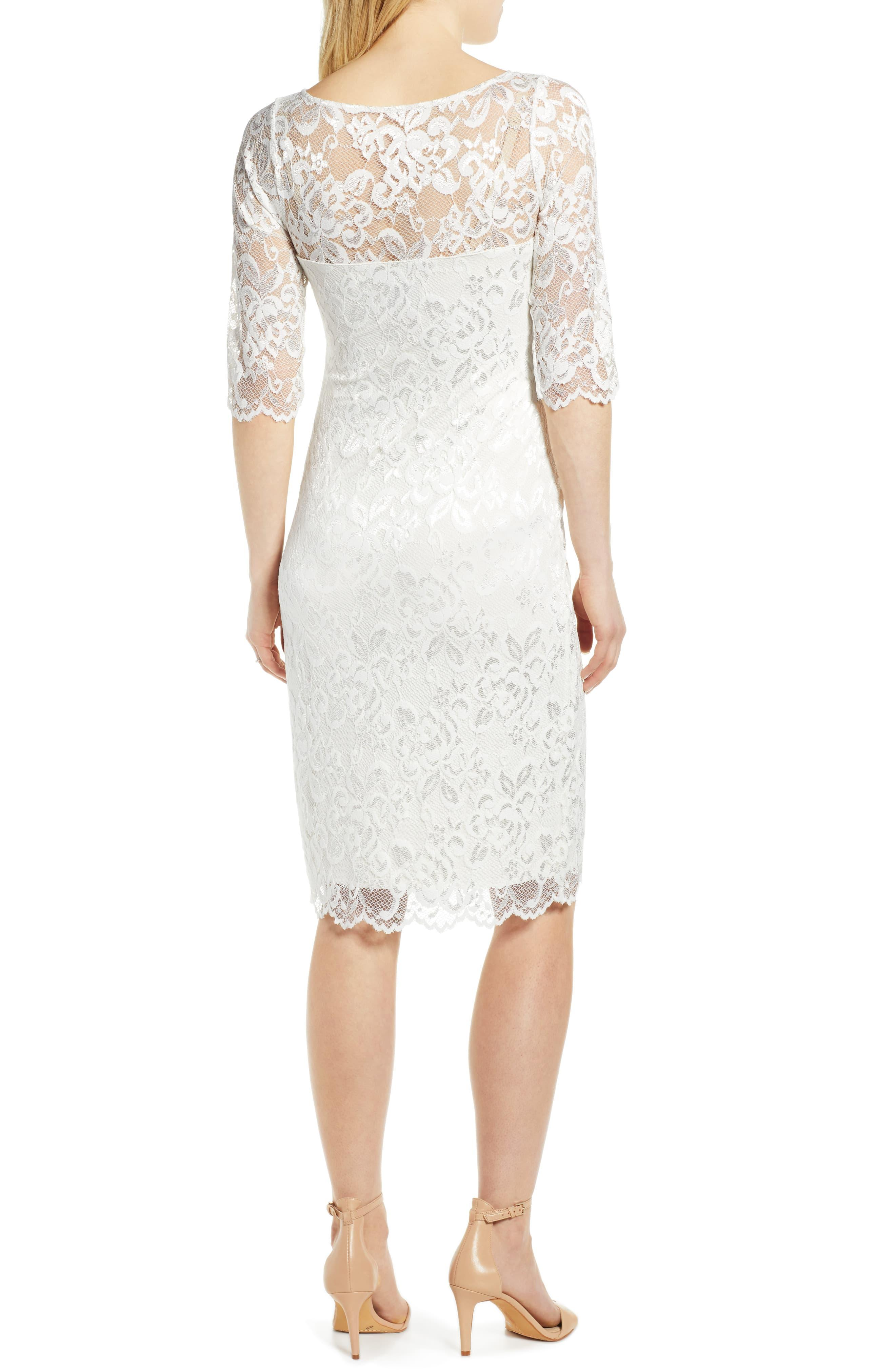 Tiffany Rose Amelia Lace Maternity Sheath Dress In White Lyst