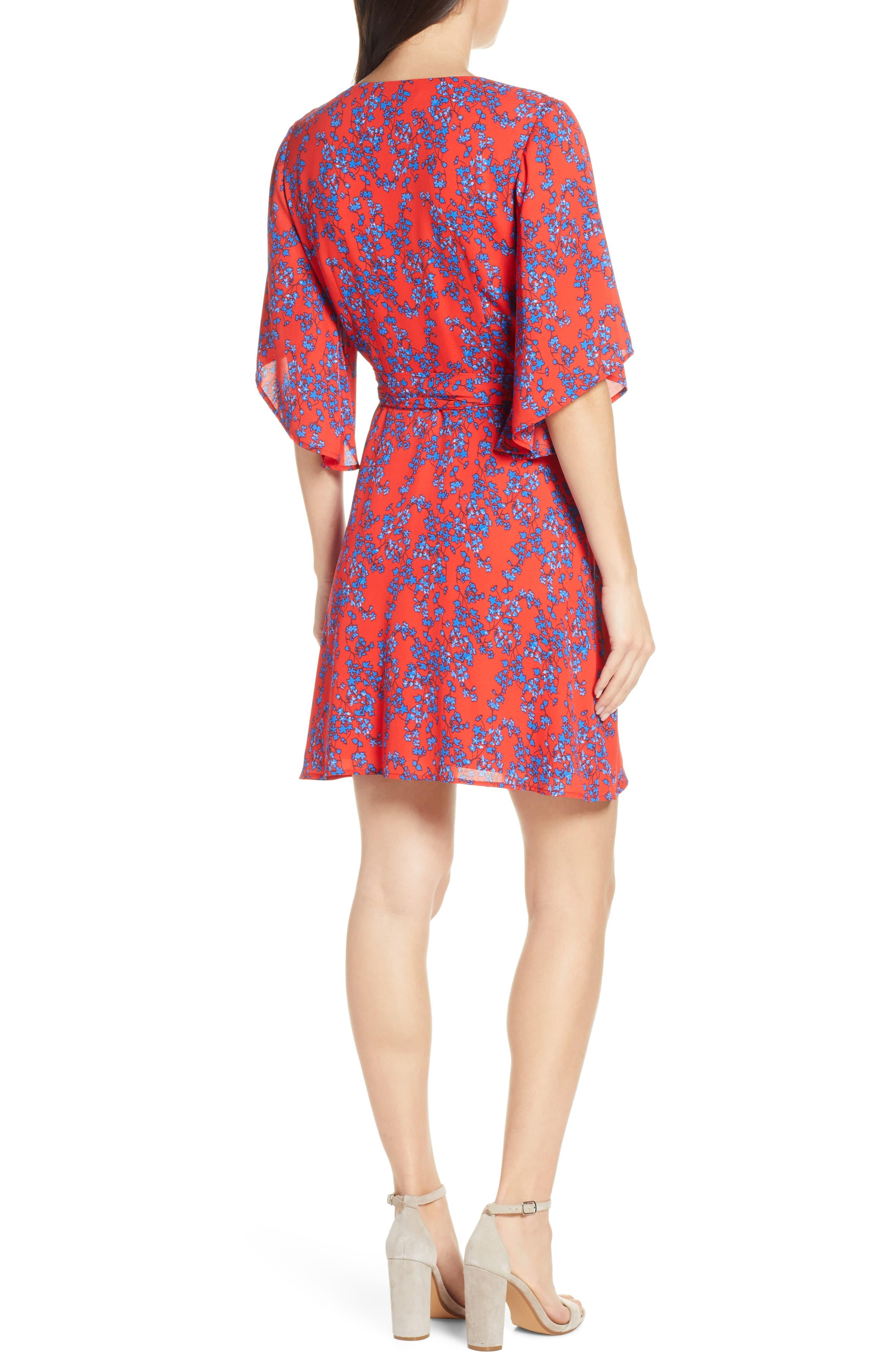 6261ad81e333 Charles Henry - Red Floral Wrap Dress - Lyst. View fullscreen