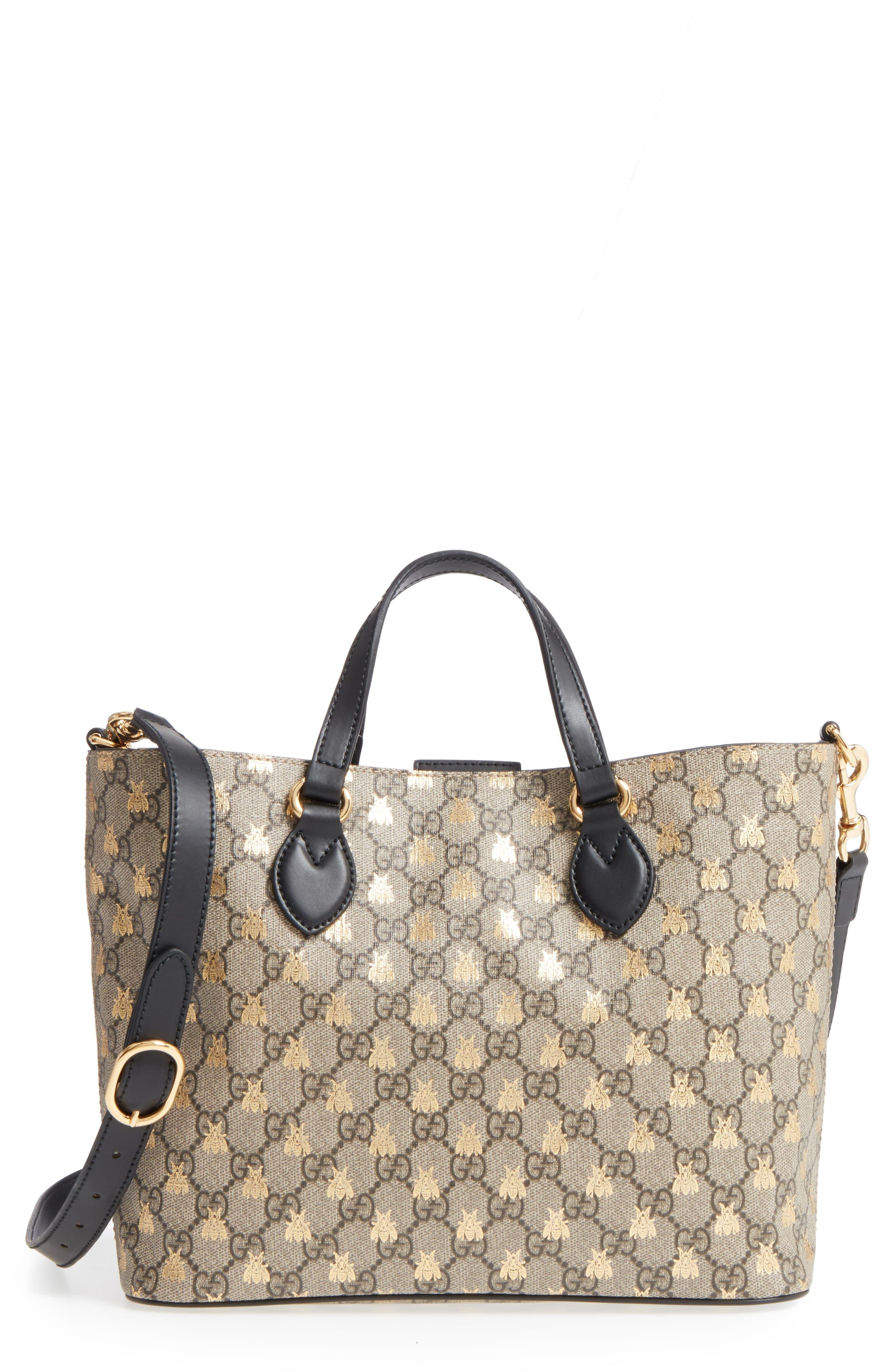 3a62c67a3 ... Gucci Natural Bee Gg Supreme Small Canvas Tote · Visit Nordstrom. Tap  to visit site