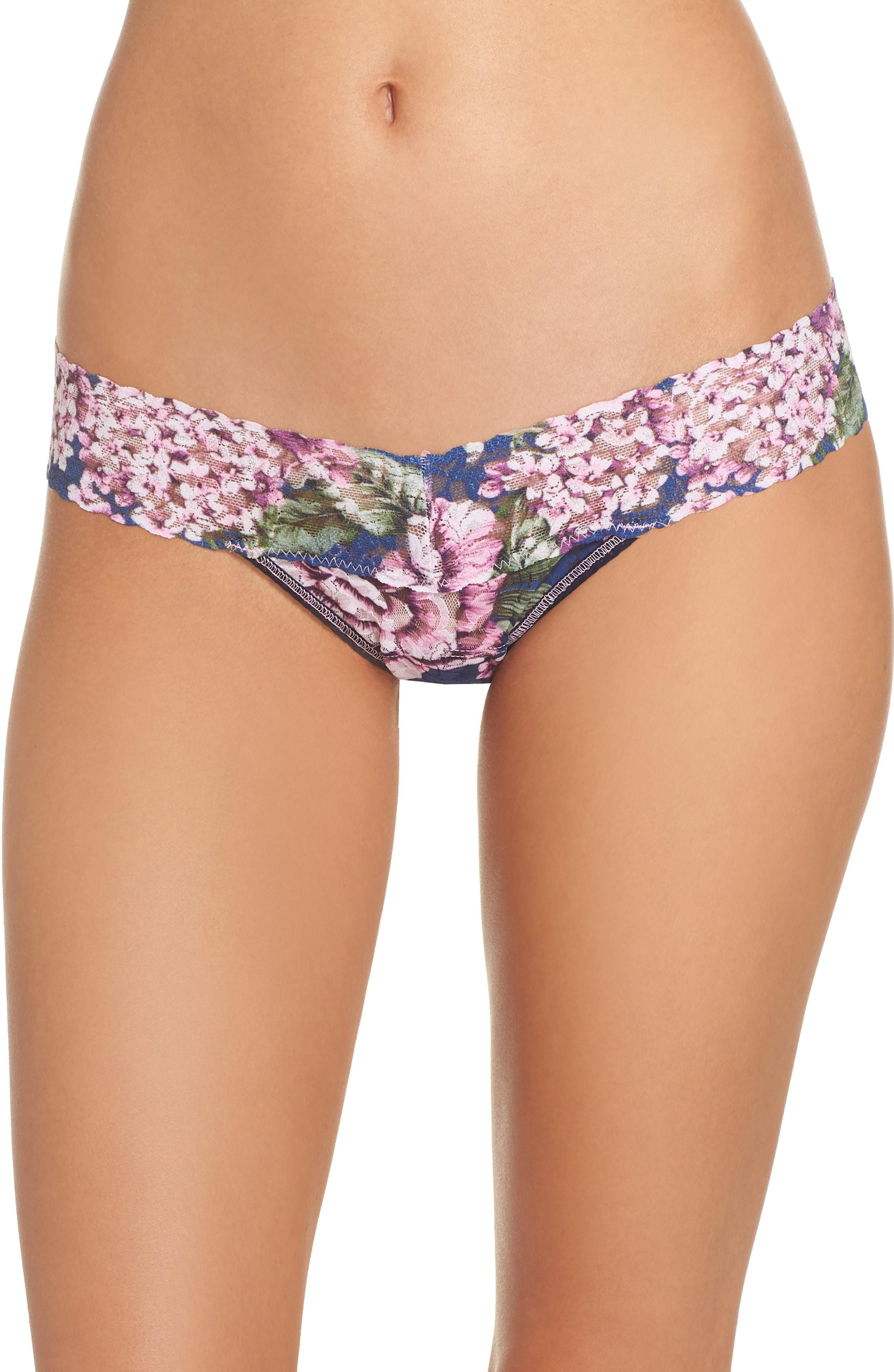 a8ca50445d Lyst - Hanky Panky Florentina Low Rise Thong in Purple