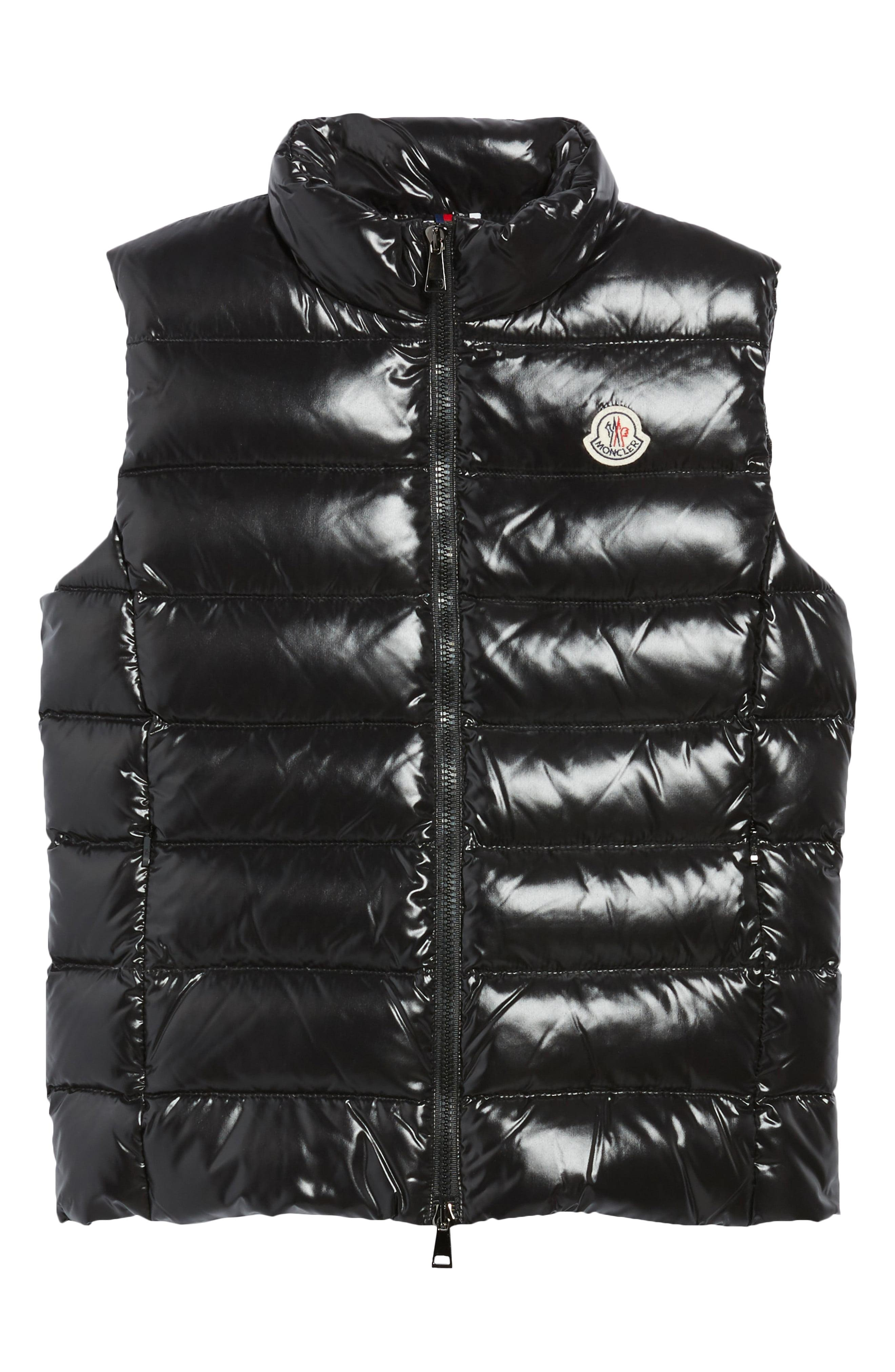 dad4b5bed938 Moncler. Women s Black Ghany Water Resistant Shiny Nylon Down Puffer Vest