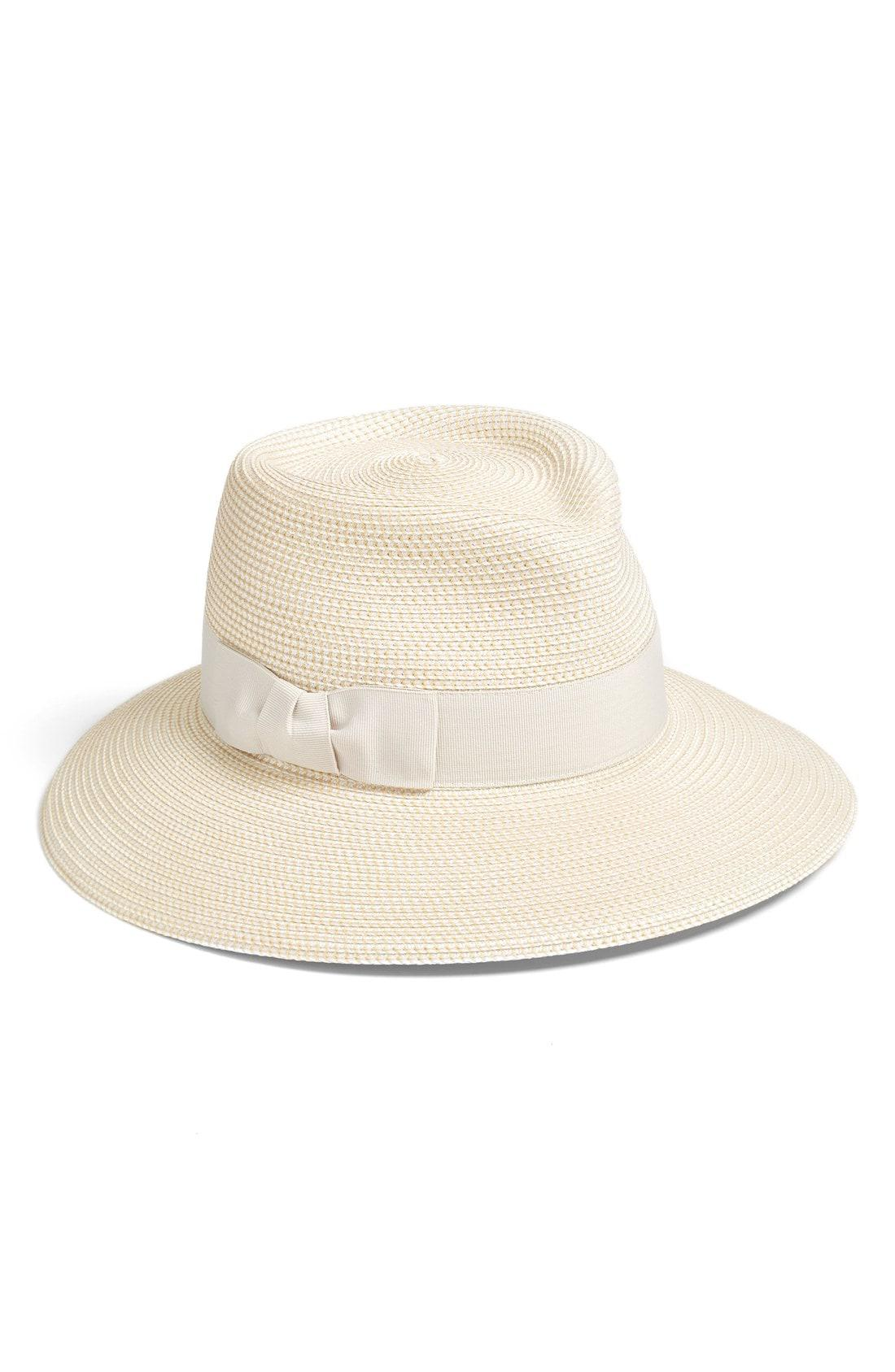Lyst - Eric Javits  phoenix  Packable Fedora Sun Hat in Brown 917ef42f86c